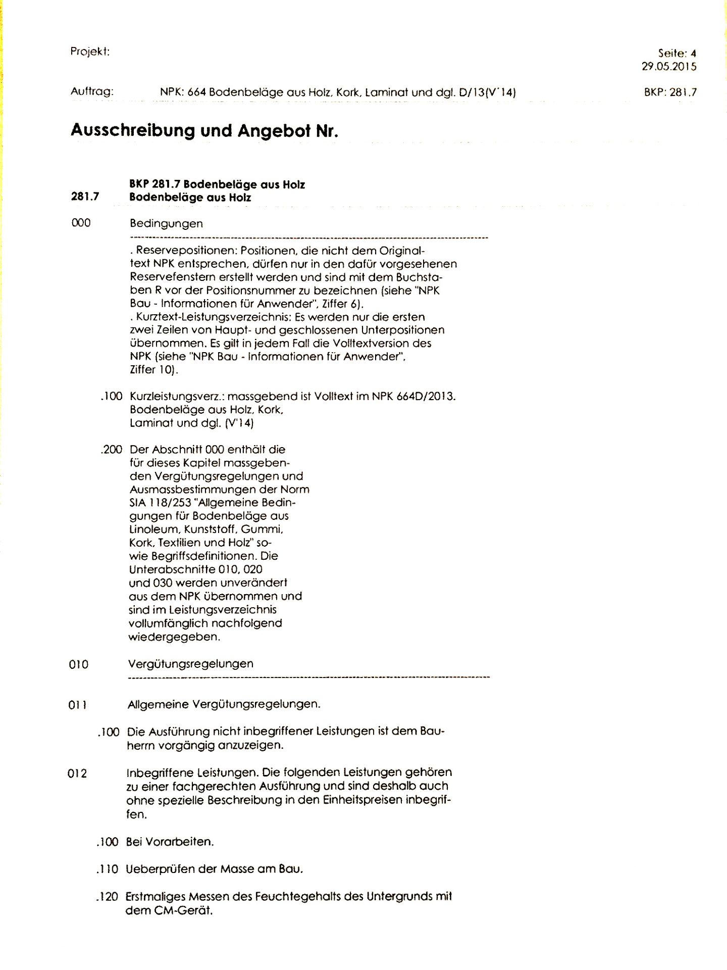 Devis Offerte - A-Team Bodenbeläge AG